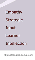 Top 5 Strengths via Strengthsfinder 2.0